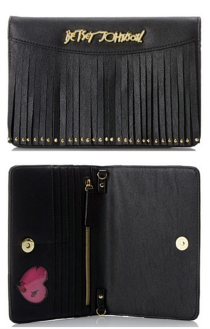 6. Betsey Johnson On The Fringe On A String Wallet