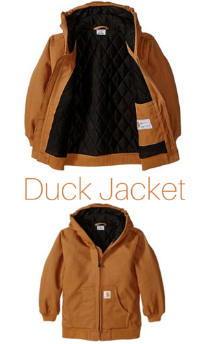 6. Carhartt Little Boys' Active Duck Jacket