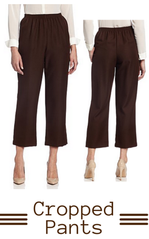 7. Alfred Dunner Women's Cropped Pant
