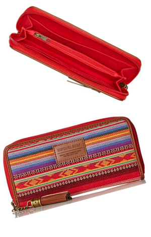 8. Rip Curl Junior's Sunset Surf Jacquard Stripe Wallet