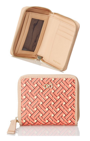 9. Cole Haan Signature Weave Small Zip Wallet