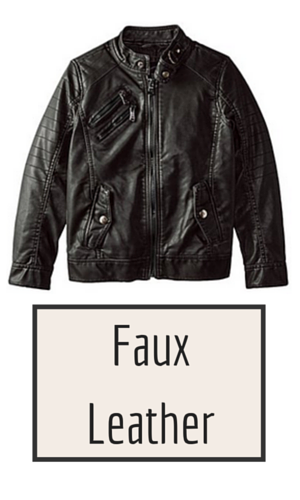 9. Urban Republic Big Boys' Faux Leather Moto Jacket With Zips