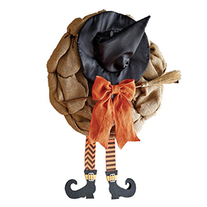 Burlap Witch Hat Door Hanger