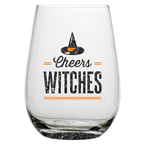 Cheers Witches Stemless Wine Glasses
