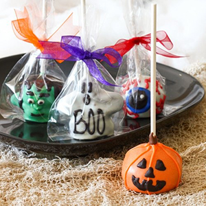 Halloween Brownie Pops - Ghosts, Eyeballs, Pumpkins and Frankensteins