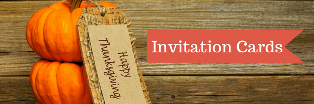 Lovely Thanksgiving Invitation Cards