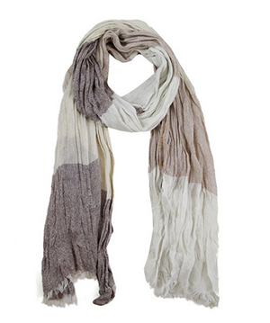 Modadorn Spring Fall New Summer Two Tone Basic Color Scarf