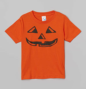 Orange Pumpkin Face Tee - Infant, Toddler & Kids