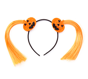 Orange Pumpkin Ponytails Headband