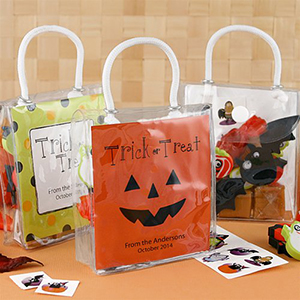 Personalized Halloween Mini Gift Tote Bags