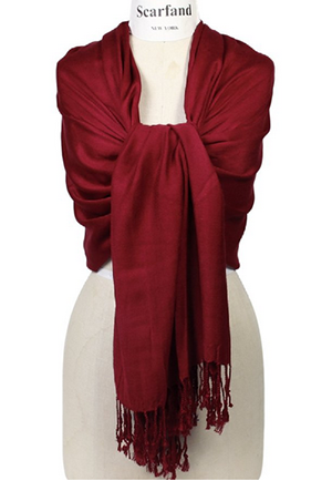 Scarfand's Super Soft Solid Color Pashmina Shawl