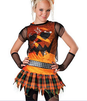 Tween Punk and Child Costume