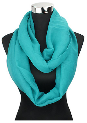 Vivian & Vincent Soft Light Weight Elegant Solid Color Sheer Infinity Scarf