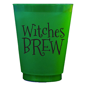 Witches Brew Green Frosted Flex Cups