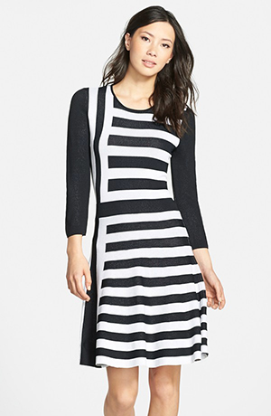 b. Stripe A-Line Sweater Dress