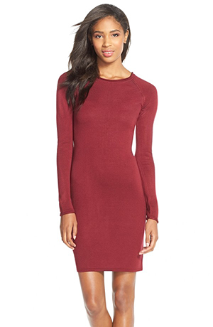 c. Raglan Sleeve Body Con dress