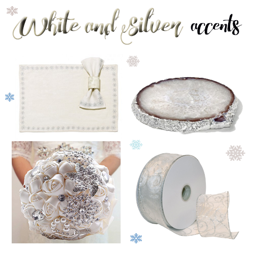 White and Silver Accent-Winter Wedding