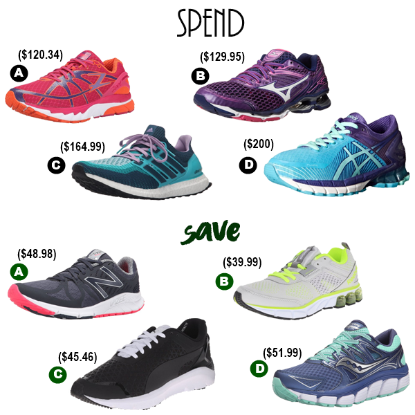 spend vs save s athletic shoes