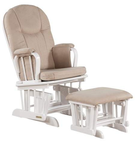 Shermag Madison Chair Glider White with Beige